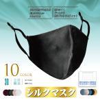 シルクマスク シルク100% マスクケース付き アジャスター付き 絹マスク 個包装 大人 保湿 冷感 接触冷感 マスク 女性 黒 繰り返し 洗えるマスク シルク 大人用