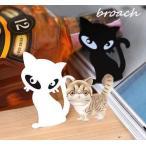Yahoo! Yahoo!ショッピング(ヤフー ショッピング)【在庫処分セール中!】 ブローチ ネコ プレート ネコグッズ スカーフ留め bc-016