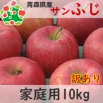 りんご 訳あり 1 0kg 青森県産 サンふじ 家庭用 キズあり 10kg