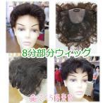 部分ウィッグ 総手植え製 人工毛 かつら  8分ウィッグ 医療用にも最適 フルウィッグ  mo-01