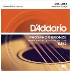 "D'Addario ダダリオ アコースティックギター弦 EJ42 ""Phosphor Bronze Round Wound"" [daddario アコギ弦 EJ-42](ゆうパケット対応)"
