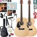 【Fタイプは欠品中】【今だけ教則DVD付き!】アコースティックギター 左利き用 W-17LH/F-17LH 16点初心者セット(大型)