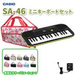 CASIO カシオ ミニキーボード SA-46 鍵盤バッグ・アダプター 付属セット【SA46 KHB ADE95100LJ】