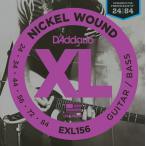 "D'Addario ダダリオ エレキギター/ベース弦 EXL156 ""Guitar/Bass XL Nickel Round Wound"" [daddario エレキ弦 EXL-156](ゆうパケット対応)"