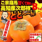 次郎柿 約8kg 甘柿 ご家庭用 高知県産 送料無料 土佐の甘かき 10月末頃より発送予定