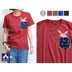 ポケット半袖Tシャツ「豆兎と躍兎」◆ちきりや/レディース