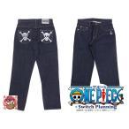【予約商品】麦わらの一味海賊旗デニムパンツ(OPSP-001)◆TEN STRIKE