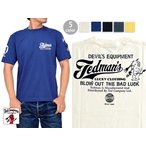 BLOW OUT THE BAD LUCK半袖Tシャツ TEDMAN テッドマンTDSS-458 エフ商会