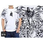 手描き半袖Tシャツ「閻魔大王」◆手描きの羽水