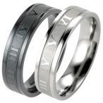 指輪 メンズ リング ステンレス ローマ数字 シンプル