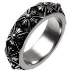 クロムハーツ風 指輪 メンズ リング ピートパンク シングル ステンレス クロス 十字 おすすめ 6220