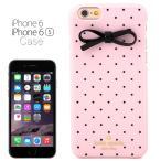 ケイトスペード kate spade NEW YORK アイフォン 6/6s ケース ドットとリボン ピンク IPHONE 6 CASE iPhone6ケース アイフォン6ケース ブランド 女性 新作