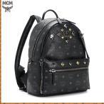 MCM エムシーエム バックパック リュック スタッズ 韓国 正規品 ブラック メンズ レディース ブランド デイパック 革 黒 ユニセックス 通勤バッグ 新品 贈り物