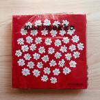 マリメッコ marimekko ペーパーナプキン 紙ナプキン ランチサイズ 20枚 575791 PUKETTI プケッティ white red 花柄 レッド