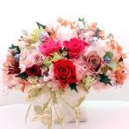 Yahoo!Flower salon Tinkerbellプリザーブドフラワー クレマンアレンジ クリスマスレッド系 母の日 誕生日 ブライダルギフト