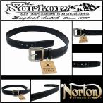 ベルト/Norton/ノートン/日本製/JPNオルテガラインレザーベルト/ブラック/FREEサイズ/173N8100