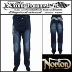 ボトムス/Norton/ノートン/ストレッチバックイーグル刺繍デニムパンツ/インディゴ/Lサイズ/193N1800