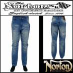 ボトムス/Norton/ノートン/ストレッチエンボスデニムパンツ/ブリーチ/Lサイズ/201N1800