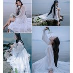 マキシワンピース シフォンワンピース ドレス マキシ丈ワンピース 通勤 結婚式 白 ホワイト 春 ロング   マキシワンピ ワンピース レディース