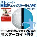ストレート回転チェックボール A号球 野球 SAKURAI(サクライ) 一般用 トレーニンググッズ  自主練習  上達のコツ  ピッチング練習
