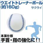 サクライ(SAKURAI)  野球  ウエイトトレーナーボール(160g)  (メール便不可)  トレーニンググッズ  ピッチング練習  投球  ボール  重い