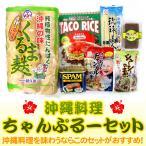 沖縄料理ちゃんぷるーセット (送料無料)(麩、スパム、タコライス、ジューシーの素、琉球美人、チャンプルーの素、油みそ)