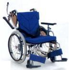 [カワムラサイクル] アルミフレーム自走用車いす(低床型簡易モジュール) KZ20-40-SL(前座高38cm)