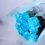 青バラの花束【15本】3種類の青バラが選べる 青いバラ 青薔薇