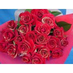 赤バラ ラメ付き赤系バラ1本 生花 大輪品種 バラ 1本 価格 花束 販売 金ラメ 銀ラメ