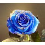 ラメ付きベンデラブルー青バラ【本数指定でブルーバラ花束】花言葉は・・・不可能/有り得ない神の祝福/奇跡【誕生日】【花】青いバラ 1本 価格 販売