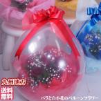 祝いバルーンフラワーinブルーローズ 生花が風船の中に 生花アレンジメント誕生日