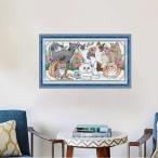 クロスステッチ 刺繍 キット クロスステッチキット ネコ 猫 ねこ 図案 図案印刷 初心者 簡単 かわいい おしゃれ 壁アート 壁装飾 部屋飾り 飾り cxy28-ss