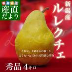 新潟県より産地直送 JAにいがた南蒲 ル レクチェ 秀品 4キロ(8玉〜12玉) 洋ナシ 洋梨 ル・レクチェ