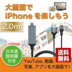 HDMI変換ケーブル iPhone アイフォン HDMI ケーブル テレビ ライトニング スマホ iPod 充電 2m 家庭用 ビジネス ホームシアター Lightning FLCA 結婚式 披露宴