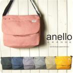 anello アネロ ショルダーバッグ レディース 杢調ポリキャンバス 軽量 撥水 フラップショルダー メッセンジャーバッグ