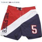 TommyHilfiger(トミーヒルフィガー)トリコロールスランテッドロゴスイムトランクス/男の子水着