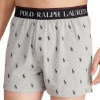 【メンズ】POLO RALPH LAUREN(ポロ ラルフローレン)ロゴバンドホースロゴニットトランクス(Gray)