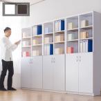 本棚 事務用書棚 扉付き本棚 CD DVD 収納 9018 2ドア 幅90cm