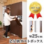 キッチン収納 スリム ダストボックス 2分別 キッチン収納 ゴミ箱 ごみ箱 おしゃれ 北欧