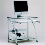 ワイドガラスパソコンデスクPW-800 ガラスPCデスク AWL