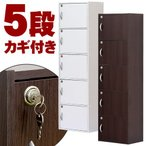 本棚 書棚 鍵付き 収納ボックス キャビネット 扉収納 5段