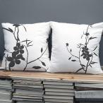 クッションカバー おしゃれ 45×45 北欧 デザイン モダン かわいい 正方形 インテリア カバー 花柄 ウィズ・ア・フラワー 単品