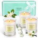 アロマキャンドル 花の香り 3個セット フランス精油 カップキャンドル 植物ワックス 100%大豆ワックス ローソク  プレゼント 部屋飾り