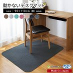 チェアマット デスクカーペット 椅子 おしゃれ 傷 キズ防止 ずれない 110×90cm 無地 洗える 在宅 日本製 学習机 おくだけ吸着 サンコー