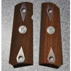 Carom グリップ 東京マルイ KSC マルゼン WA M1911 45AUTOシリーズ用 紫檀 イーグルメダル付 チェッカー 6000