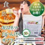 ファビギム 大容量360粒 (約6ヶ月分) ファビノール 白インゲン豆 ギムネマシルベスタを高配合 送料無料