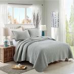 北欧ベッドカバー・アンティーク風綿100%ベッドスプレッド クイーン