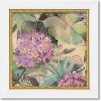 ユーパワー アートフレーム/植物・花 ピンクハイドランジア W19xH19cm