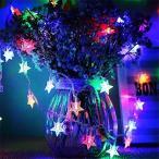 イルミネーションライト星型 LEDストリングライト5M 電球数40 電池式 スターフェアリーライト結婚式 クリスマス パーティー誕生日 室内