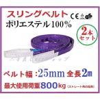スリングベルト ベルト幅25mm 全長2m/ポリエステル強力原糸100%